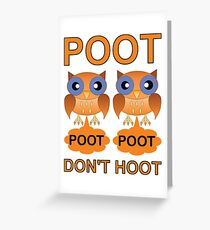 Two Poots not Two Hoots Greeting Card