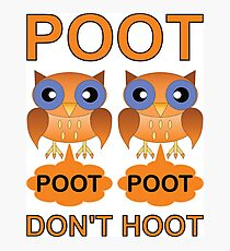 Two Poots not Two Hoots Photographic Print