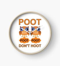 Two Poots not Two Hoots Clock