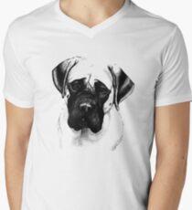 Mastiff Portrait Tee Men's V-Neck T-Shirt