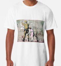 Little girl frisking a soldier Long T-Shirt