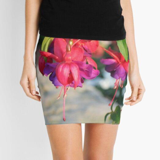Dangling Fuchsia Mini Skirt