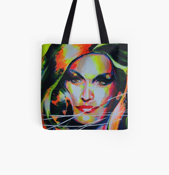 Dalida Art painting Tote bag doublé