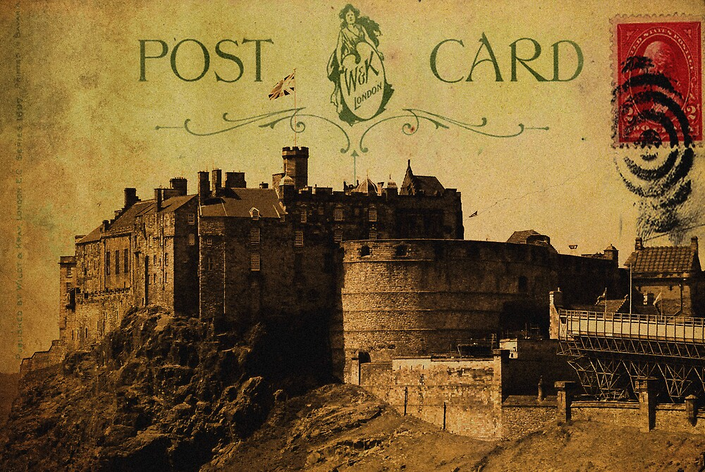 Edinburgh Castle Postcard\