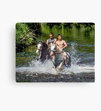 Gypsies at Appleby Horse Fair Canvas Print