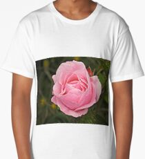 Pink Petals - Rose. Long T-Shirt