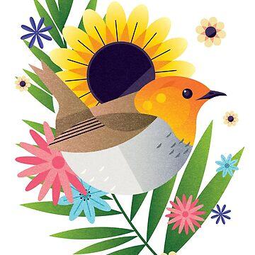Tropical Robin by jamesboast
