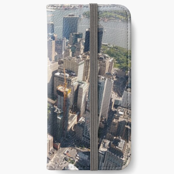 Manhattan, New York, NYC, #Manhattan, #NewYork, #UNC, skyscrapers, #skyscrapers iPhone Wallet
