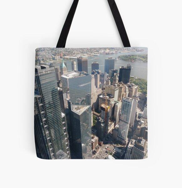 Manhattan, New York, NYC, #Manhattan, #NewYork, #UNC, skyscrapers, #skyscrapers All Over Print Tote Bag
