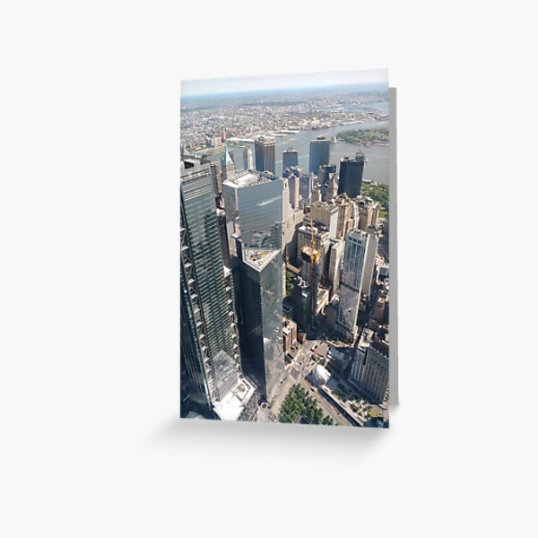 Manhattan, New York, NYC, #Manhattan, #NewYork, #UNC, skyscrapers, #skyscrapers Greeting Card