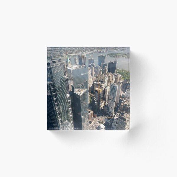 Manhattan, New York, NYC, #Manhattan, #NewYork, #UNC, skyscrapers, #skyscrapers Acrylic Block