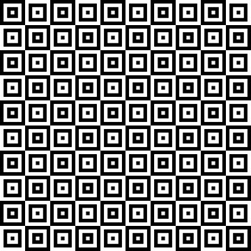 Black & White Geometric Square Pattern  by quarantine81