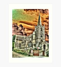 The Church in Lacock Village, Wiltshire Art Print