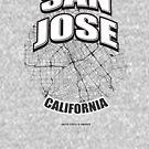 San Jose monochrome logo design by hebstreit