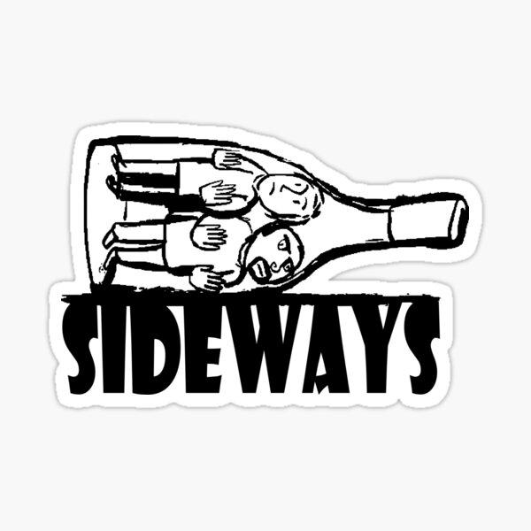Sideways Wine Bottle Sticker