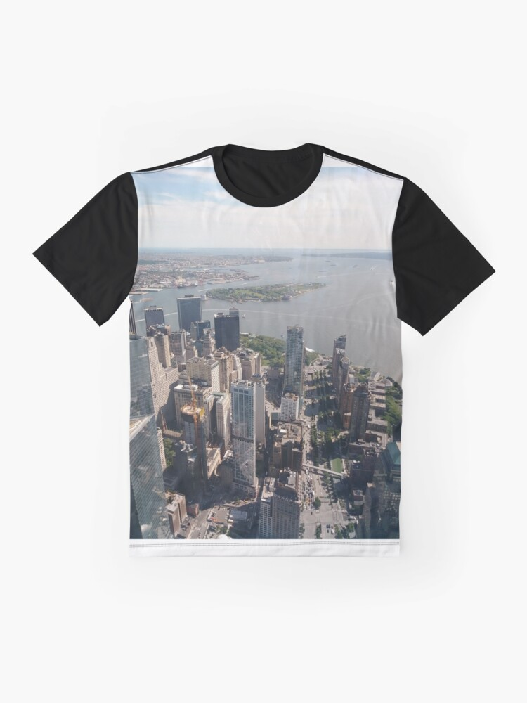 Alternate view of Manhattan, New York, NYC, #Manhattan, #NewYork, #NYC, skyscrapers, #skyscrapers, New York City, #NewYorkCity Graphic T-Shirt