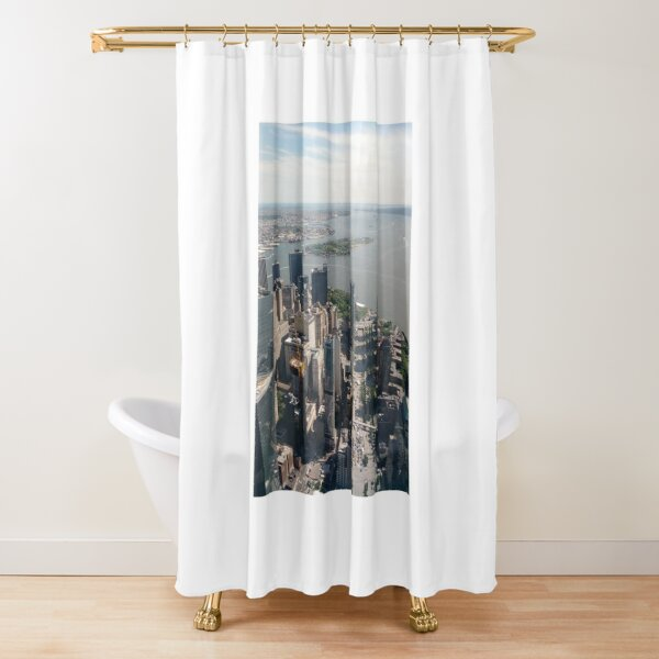 Manhattan, New York, NYC, #Manhattan, #NewYork, #NYC, skyscrapers, #skyscrapers, New York City, #NewYorkCity Shower Curtain