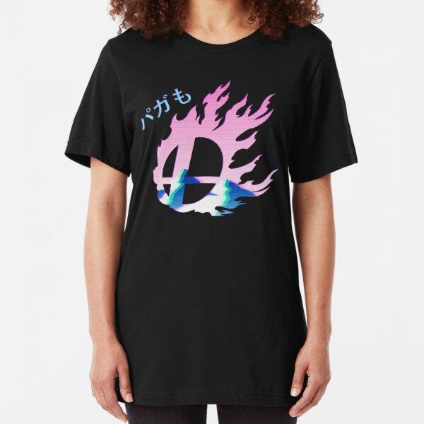 Smash Bros Vaporwave Slim Fit T-Shirt
