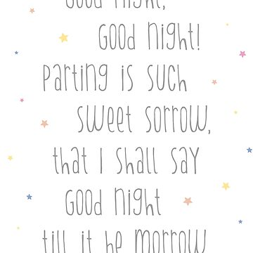 Good Night Shakespeare by posay