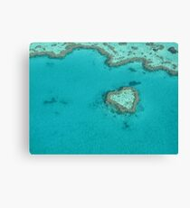 Heart Coral Reef Canvas Print