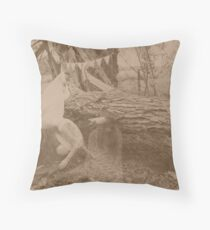 little lady cottingley Throw Pillow