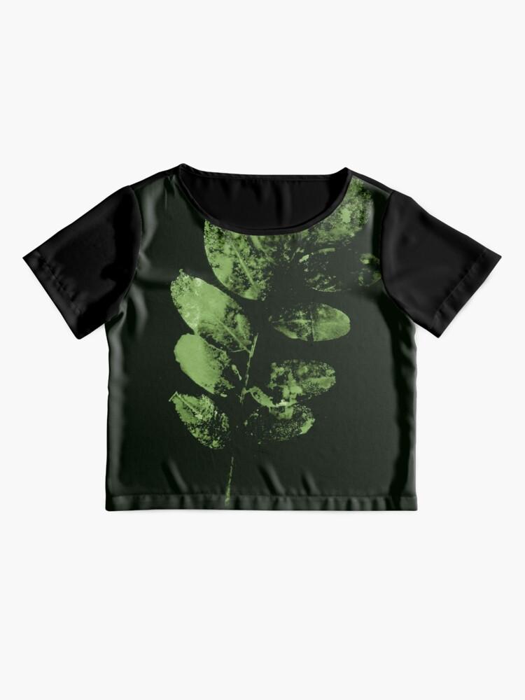 Alternative Ansicht von Bezauberndes Grünes Wald Blatt Chiffon Top