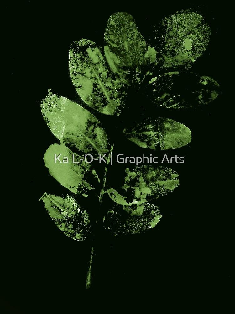 Bezauberndes Grünes Wald Blatt von KaL-O-K