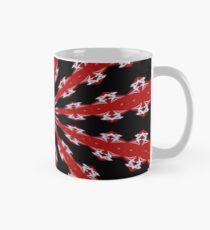 Red Black and White Abstract Mug