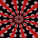 Red Black and White Abstract by taiche