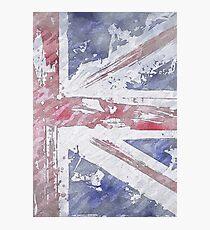 Rustic Union Jack Flag Photographic Print
