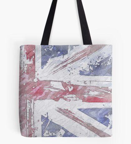 Rustic Union Jack Flag Tote Bag
