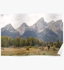 Artist in the Tetons Poster