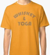 Whiskey & Yoga Funny Geek Nerd Classic T-Shirt