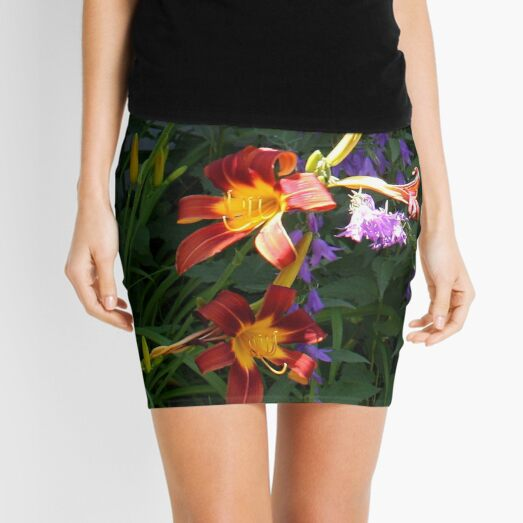 Daylilies in the Wildflowers Mini Skirt