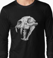 Dinictis, The 'False Sabertooth Cat' skull   Graphite Pencil Art Long Sleeve T-Shirt