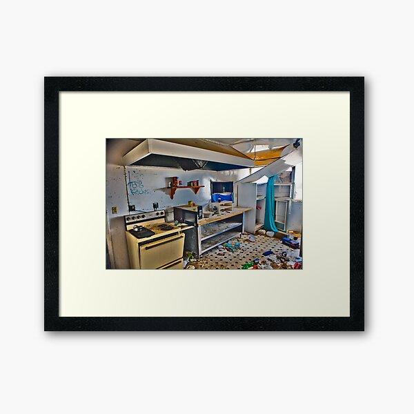 Teds Kitchen Framed Art Print