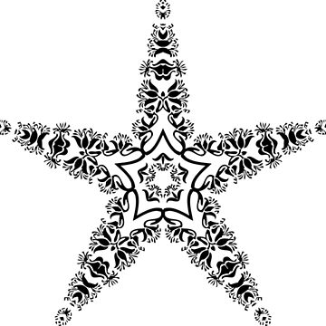 Star decoration Abstract star by Scirocko