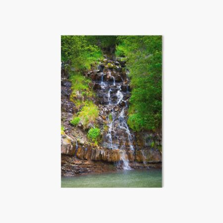 small waterfall in forest Art Board Print