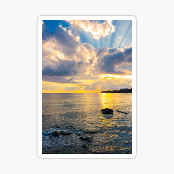 gorgeous sunrise at the seaside Sticker