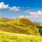 panorama of Krasna mountain ridge by mike-pellinni