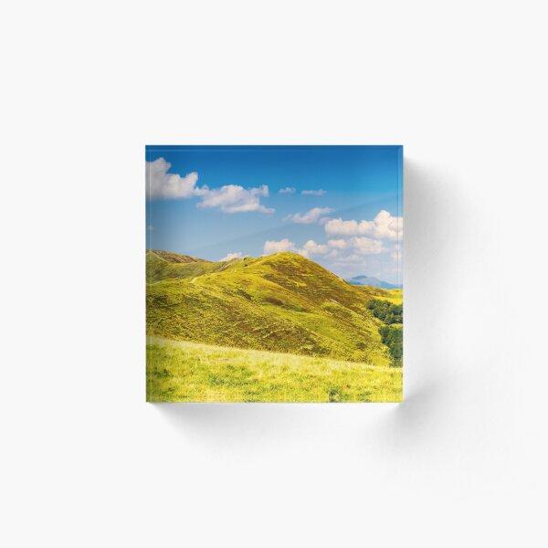 panorama of Krasna mountain ridge Acrylic Block