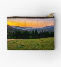 beautiful sunset in Carpathian mountains Studio Pouch