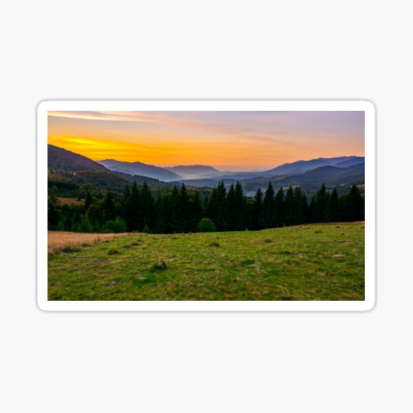 beautiful sunset in Carpathian mountains Sticker