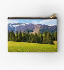 Spruce forest on  the grassy hills Studio Pouch