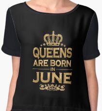 Queens Are Born In June Chiffon Top
