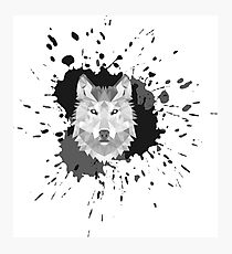 Painted Wolf Photographic Print