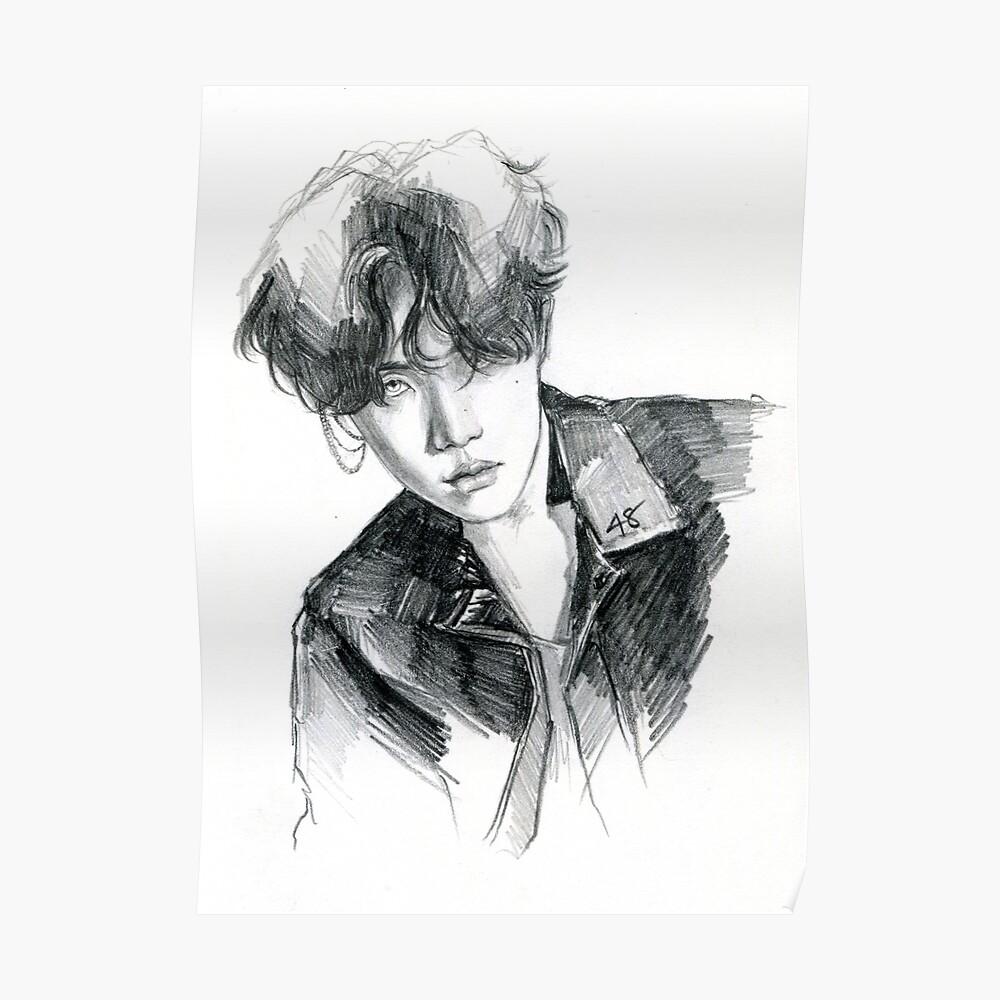 Hoseok fake love sketch ver 1 poster