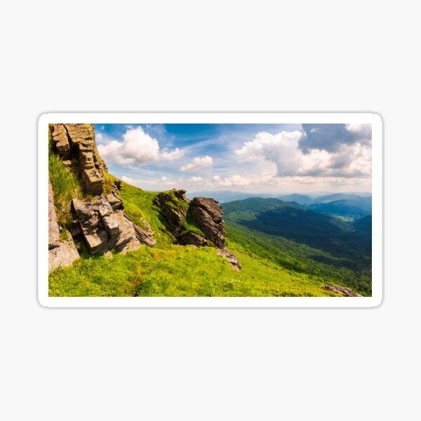 beautiful mountain scenery in summer Sticker