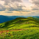 beautiful mountain landscape with grassy hills by mike-pellinni