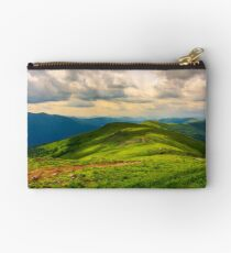 beautiful mountain landscape with grassy hills Studio Pouch
